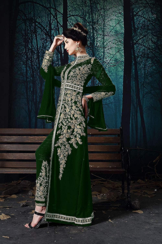 DaFacioun Indian Women Designer Partywear Ethnic Traditonal Salwar Kameez. ICW2800-3 Green