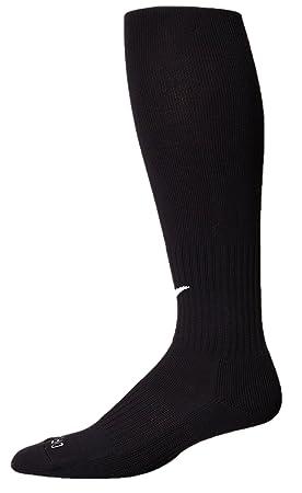 NIKE DRI FIT Clásico Amortiguado Calcetines De Fútbol (Negro/Blanco) (Tamaño De Los EE.UU) (US size_M): Amazon.es: Deportes y aire libre