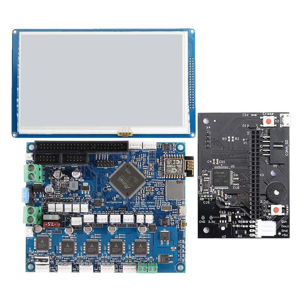 SDENSHI 3Dプリンターマザーボードキットクローン最新バージョンDuet 2 Wifi V1.04アップグレードコントローラーボード32ビットメインボード+ 7.0インチタッチスクリーン