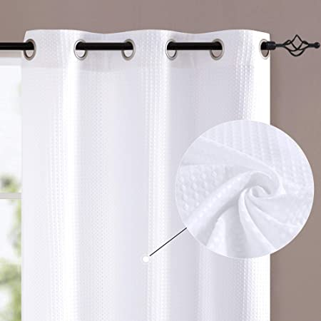 Amazon.com: jinchan White Curtains for Bedroom Living Room Grommet