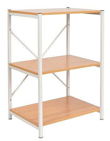 Schön Ts Ideen Standregal Hochregal MDF Eisengestell Weiß Regal Holzoptik Küchen Regal  Mikrowellenhalter 84 X