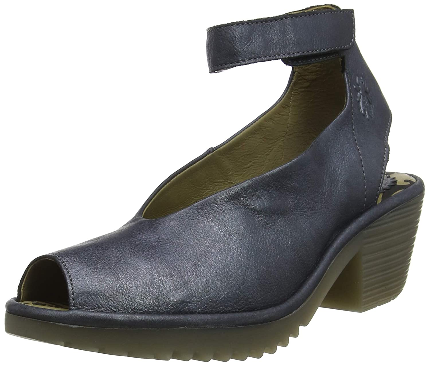 Blau (Anthracite 001) Fly London Damen Wolm019fly Riemchenpumps