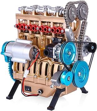 Auto Mini montieren Inline 4-Zylinder Motor Modell Spielzeug für Erwachsene