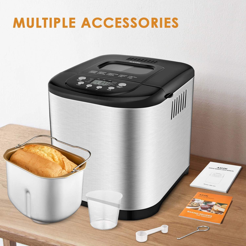 Amazon.com: Aicok Máquina de pan automática, máquina de pan ...