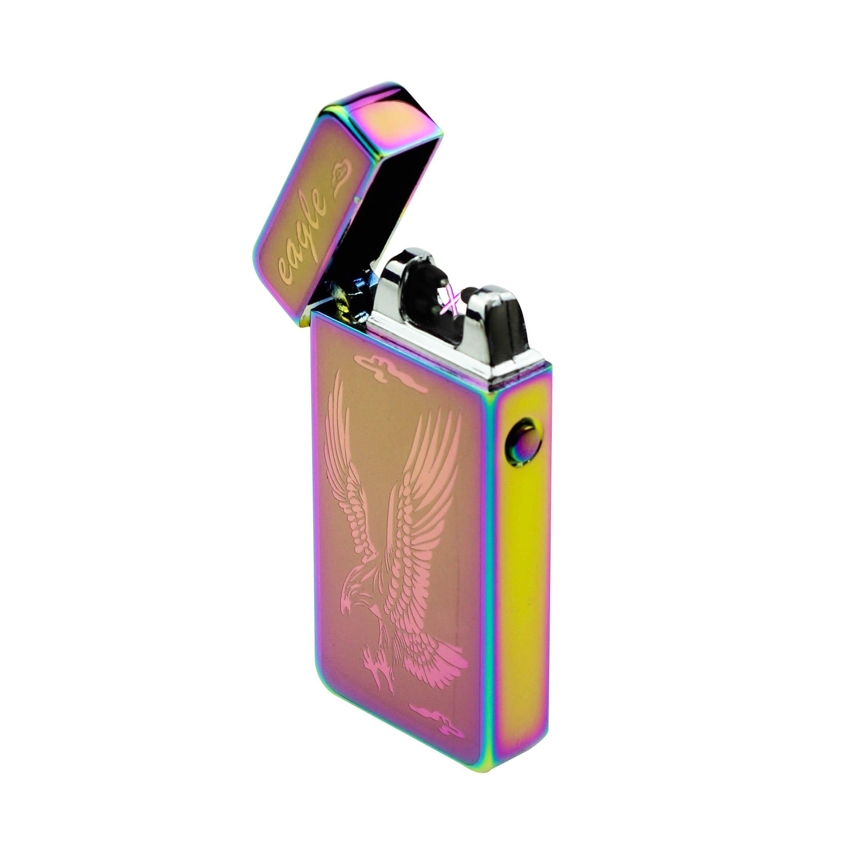 Sunshine USB Lighter Dual Arcs Flameless Windproof Wider Arcs Plasma Beam Dual Arc Lighter USB cable included (Rainbow Eagle) by Sunshine (Image #3)