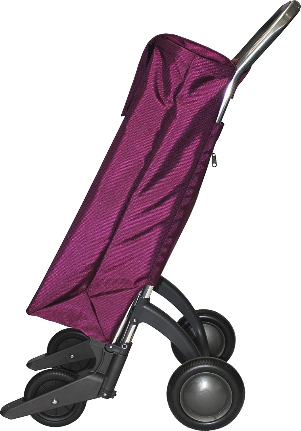 Amazon.com: ROLSER Quattre.2 Sbelta MF SBE001 Wheeled Shopping Bag Claret: Kitchen & Dining