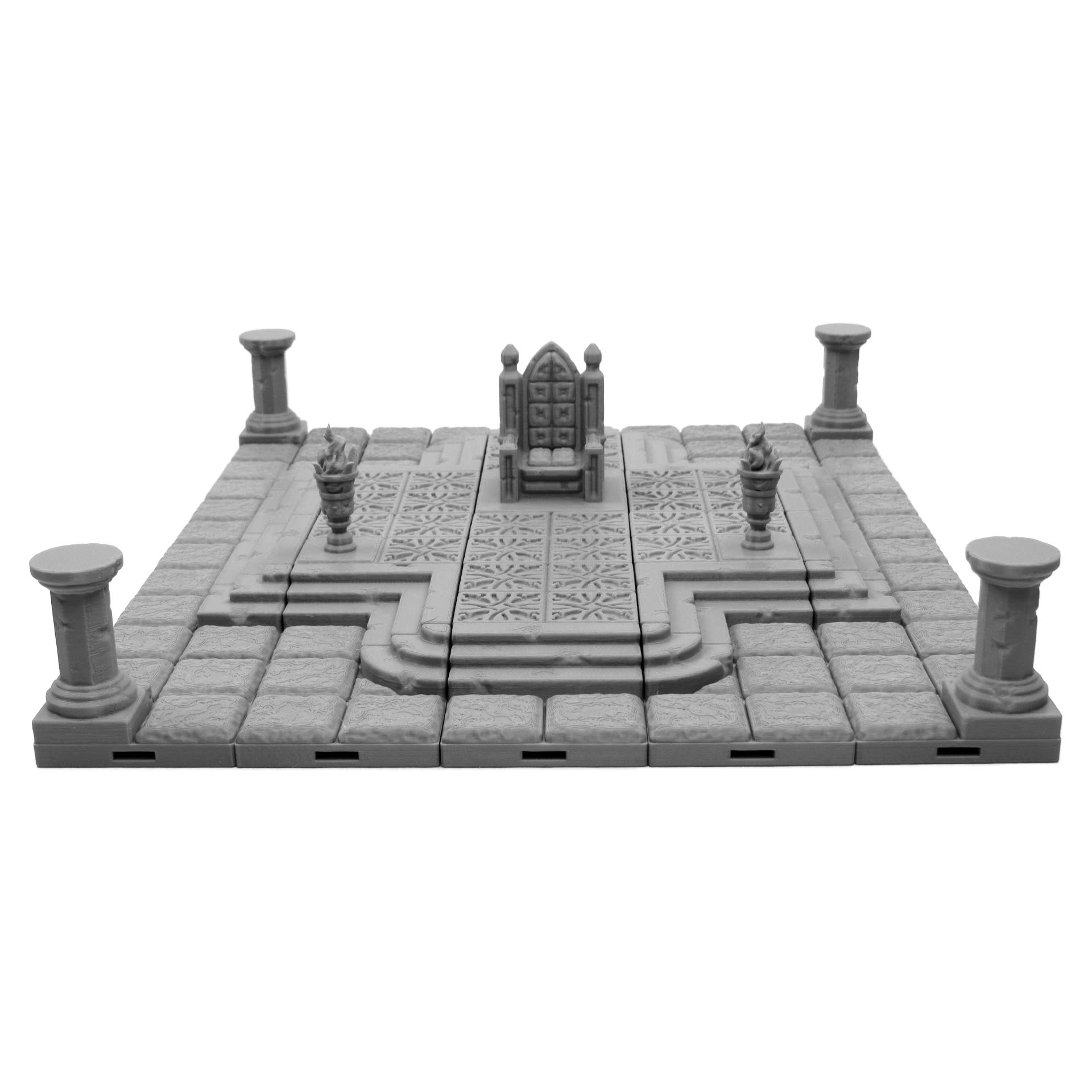 Locking Dungeon Tiles - Throne Room, Terrain Scenery Tabletop 28mm Miniatures Role Playing Game, 3D Printed Paintable, EnderToys