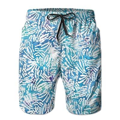 60caa40ad5 Abstract Aqua Blue Camping Unique Vacation Surfing Shorts Summer Short
