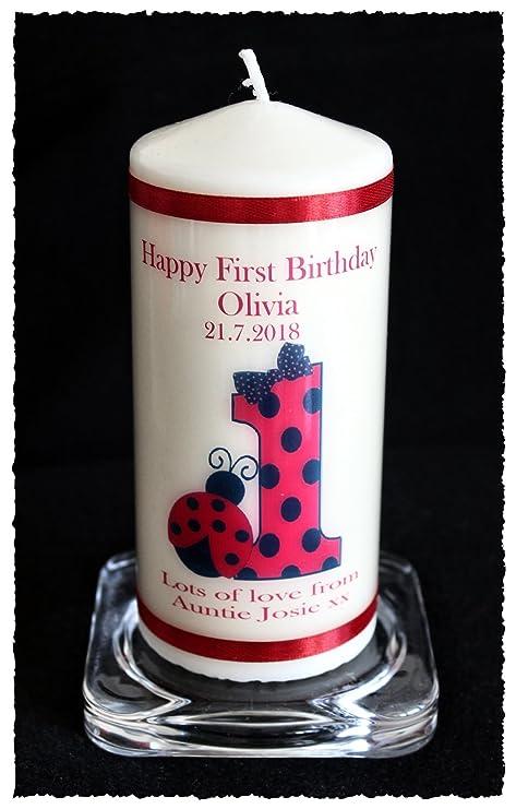 Vela de 1er cumpleaños regalo personalizado para bebé ...