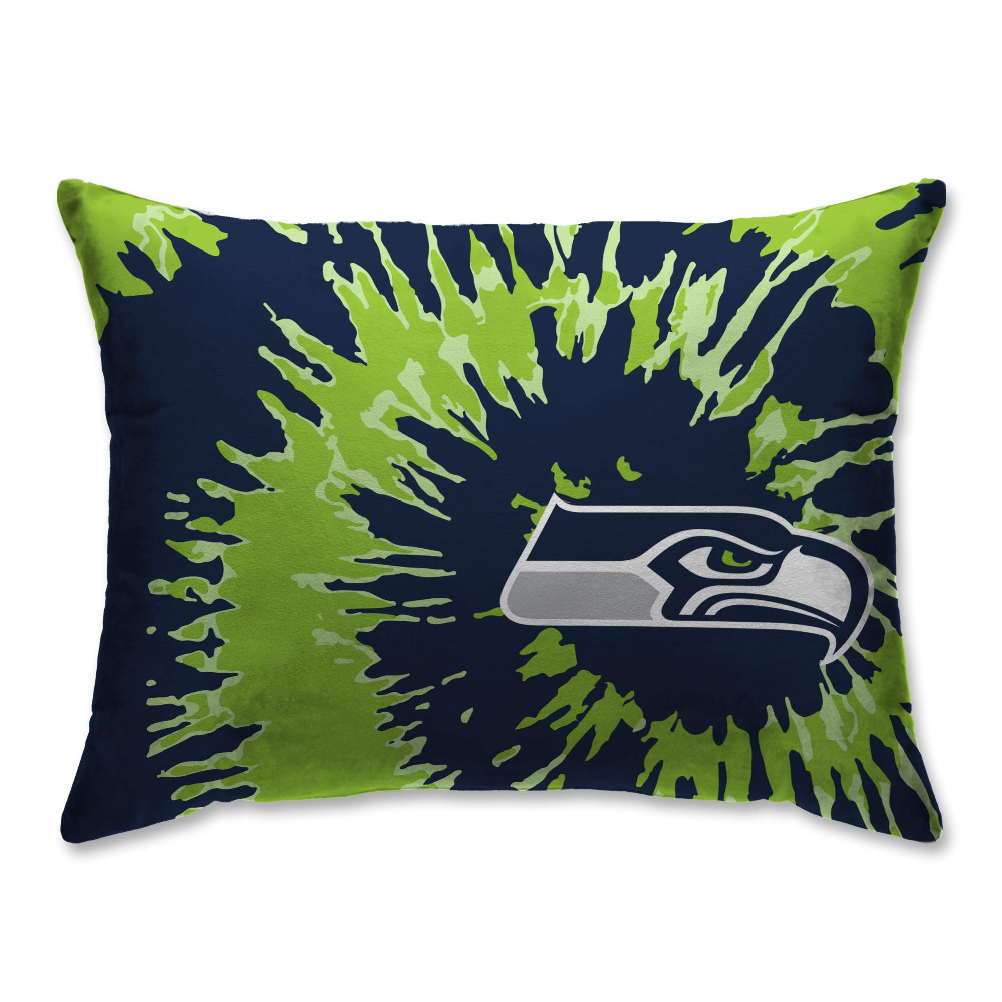 Pegasus Sports Seattle Seahawks Tie Dye 20'' x 26'' Plush Bed Pillow, Set of 2#282291756 by Pegasus Sports
