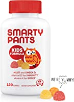 SmartyPants Kids Formula Daily Gummy Vitamins: Gluten Free, Multivitamin & Omega 3 Fish Oil (DHA/EPA), Methyl B12,...