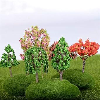 ChaRLes 25 Unids/lote 5 Cm Mesa de Arena Modelo Micro Jardín Paisaje Alambre Árbol Color Mezclas Decoraciones: Amazon.es: Industria, empresas y ciencia