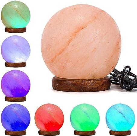 Natural Rock Himalayan Natural Rock Salt LED RED Color USB Lamp Klass Home Collection/® /…