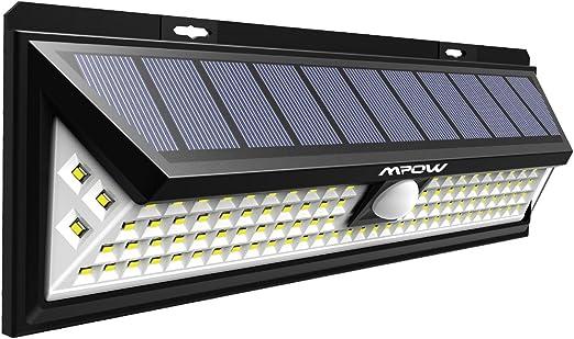 【Version Puissante】Mpow 102 LED Eclairage Solaire Extérieur Lampe Solaire Etanche 2200 mAh Batterie Détecteur de Mouvement 3 Modes d'éclairage Pour