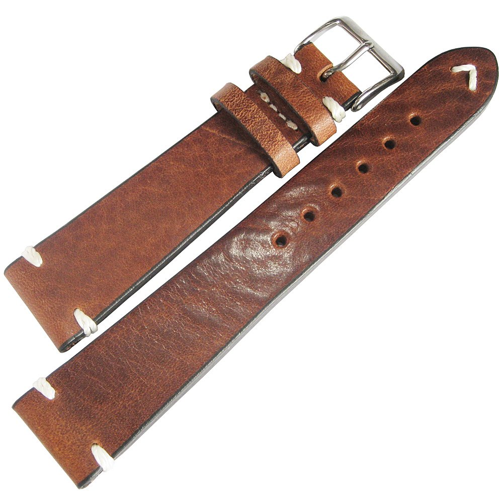 Fluco Hunter 20mm Tobacco Leather Watch Strap