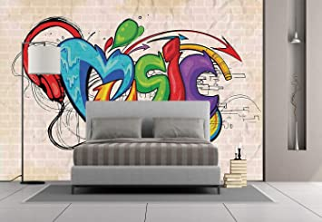 Amazoncom Large Wall Mural Sticker Music Decorillustration Of