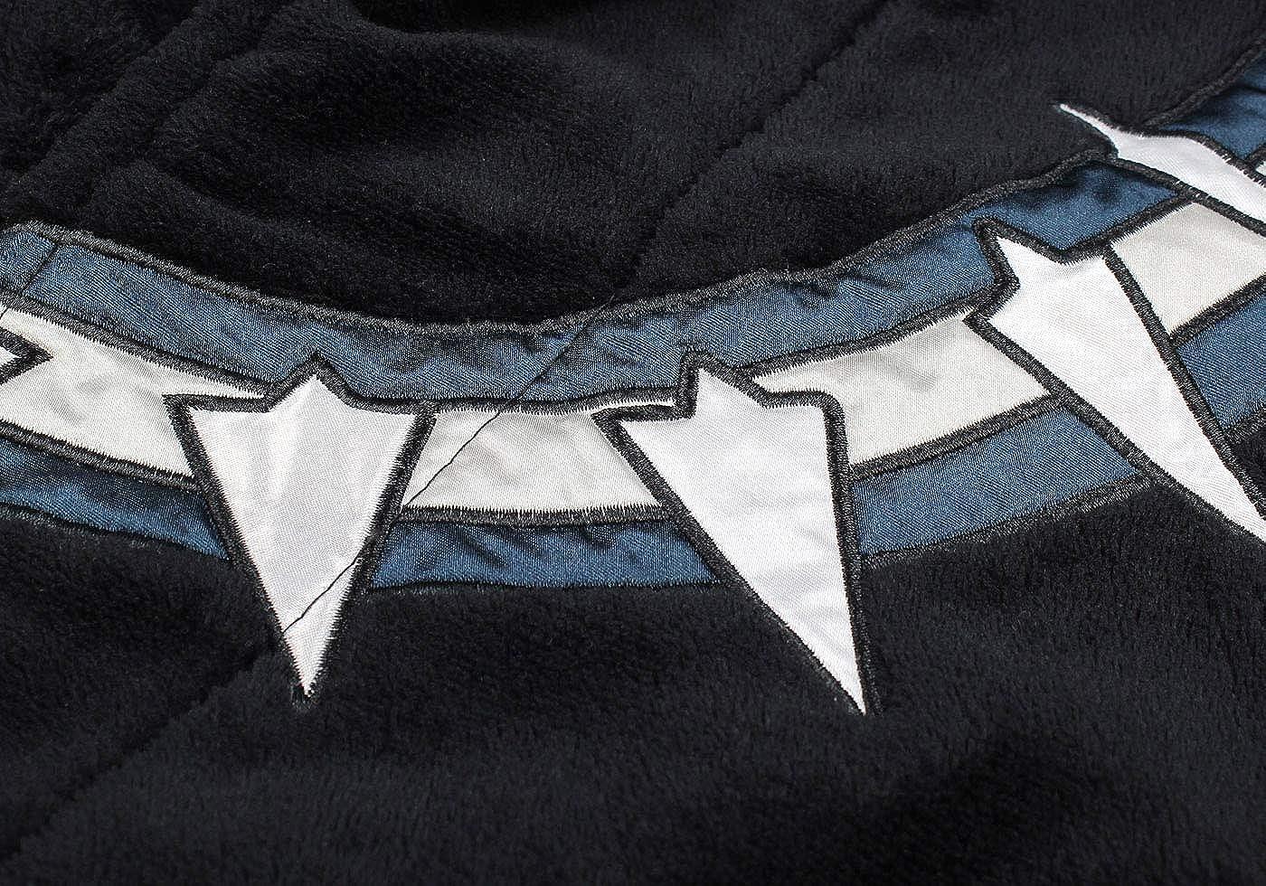Marvel Universe Mens Black Panther Fleece Costume Bathrobe: Clothing
