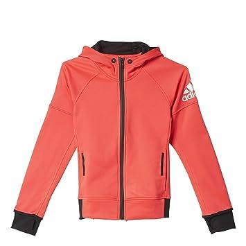 adidas YG Dbrk FZ HD - Sudadera para niña, Color Rojo/Negro, Talla 128: Amazon.es: Zapatos y complementos