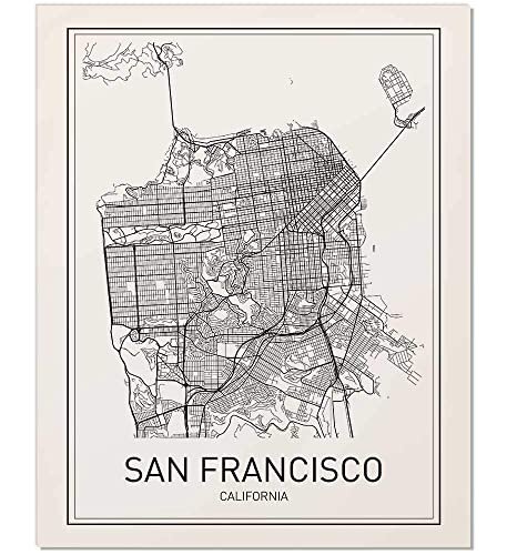 Amazon Com San Francisco Map City Map Poster San Francisco Print