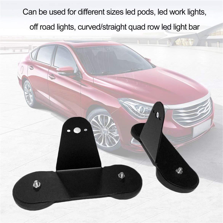 2 teile/satz Stanzen-freie Leistungsstarke Halterung Halter mit starken Magnetfuß Dach LED Lichtleiste für Offroad Auto (schwarz) JohnJohnsen