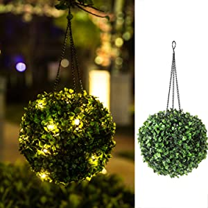 Hanging Solar Lantern Lights Outdoor Waterproof Garden Solar Lights for Yard, Patio, Porch, Balcony, Gift - 8 Inch (Warm)