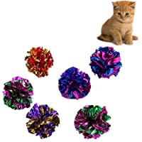 10x Chytaii Cats Toys Kitten Cat Teaser Interactive Toy Crinkle Balls Rustle Sound Ball Toys for Cats Random Colour (10pcs)