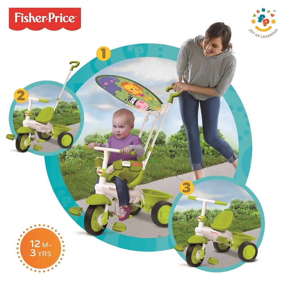 Verde clásico, más Inteligente Trike Tacto de dirección 3-en-1 de la Bici del niño del Triciclo