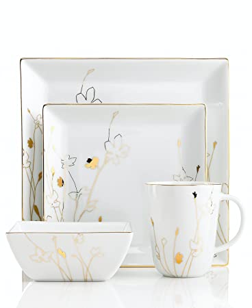 Amazon.com | Charter Club Dinnerware, Grand Buffet Gold Silhouette ...