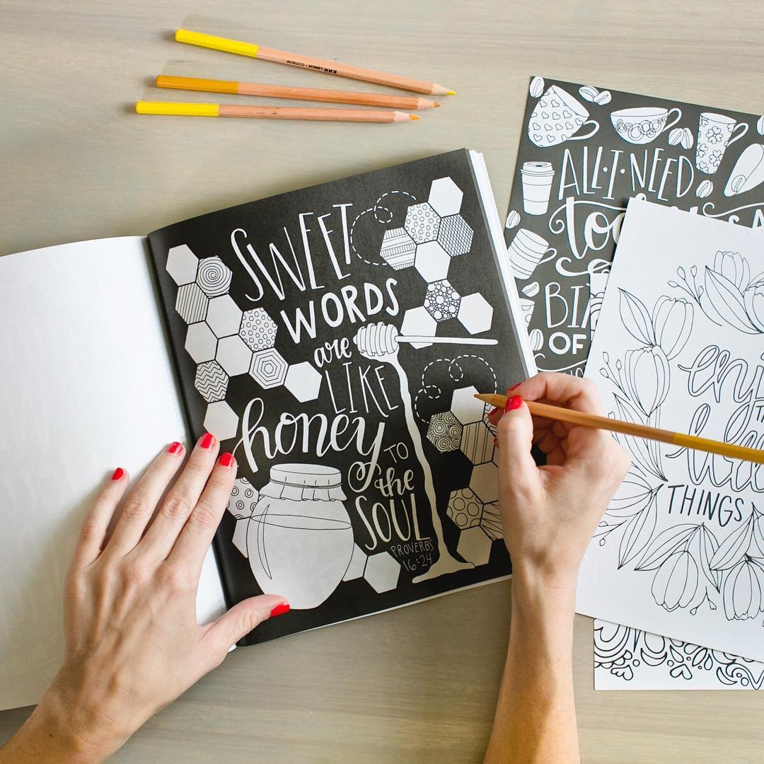 Amazon.com: Chalk It Up To Grace: A Chalkboard Coloring Book of ...