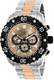 Invicta Men's 'Pro Diver' Quartz Stainless Steel Casual Watch, Color:Two Tone (Model: 22520)