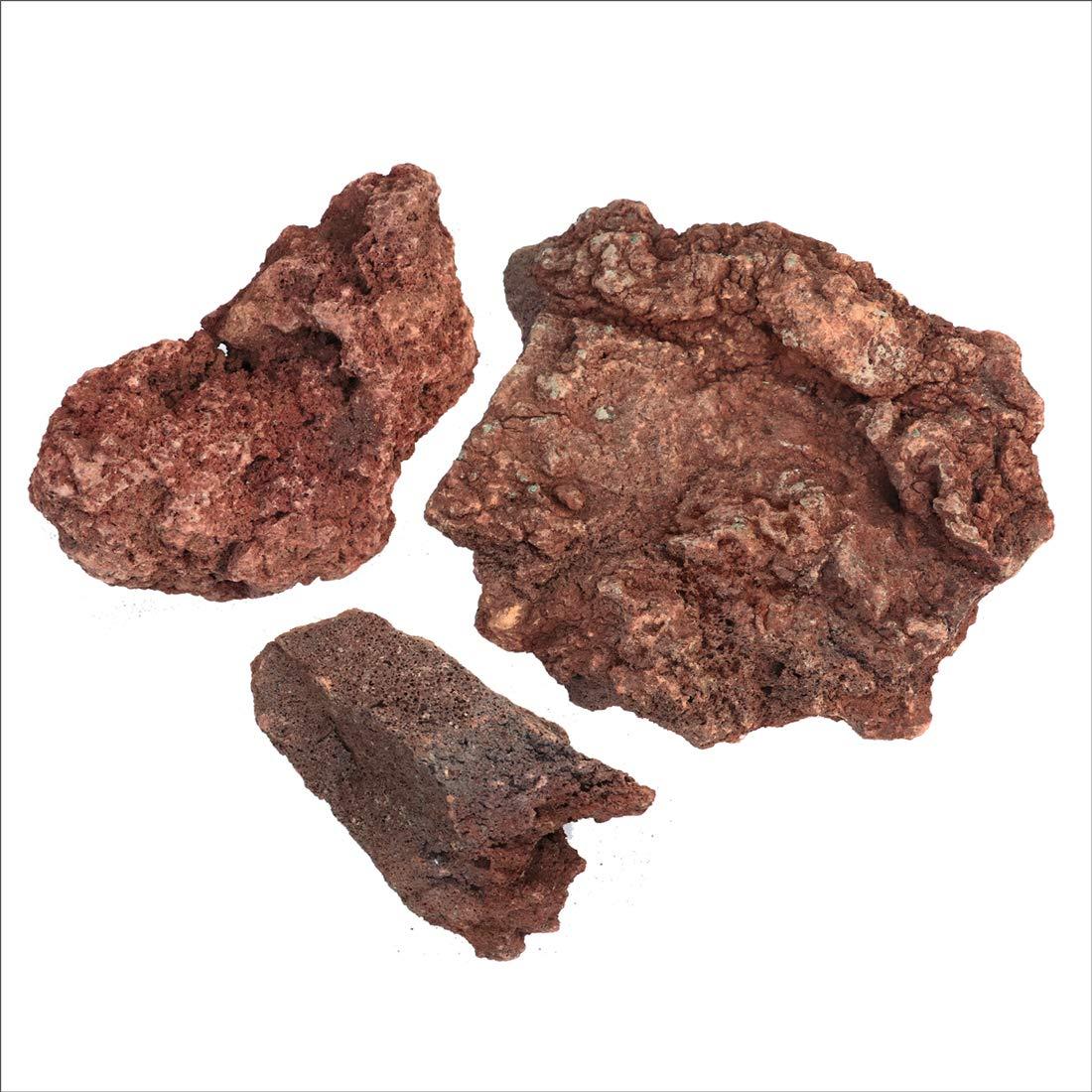 溶岩石 レッド 150-300mm 300kg以上(10kg×30箱セット) B01I2F6904  300kg