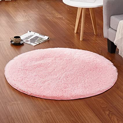 Amazon.com: LOCHAS 4-Feet Round Area Rugs Super Soft Living Room ...