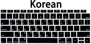 WYGCH Korean Language Keyboard Cover Compatible with MacBook Air 2018 [13.3 inch A1932 with Retina Display and Touch ID] Silicone Soft Protector,USA Version