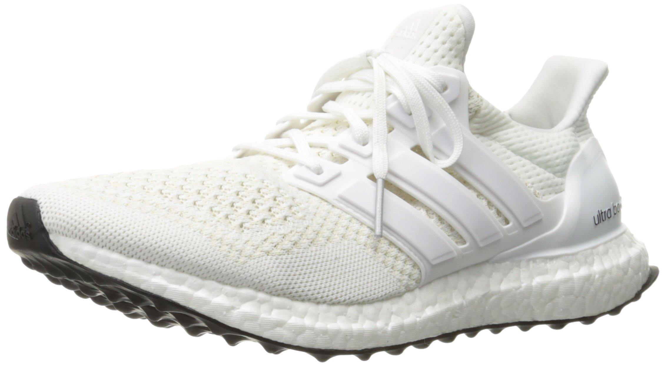 online store 20402 c0fdf Galleon - Adidas Men s Ultra Boost M Running Shoe, White Silver Metallic,  12.5 M US