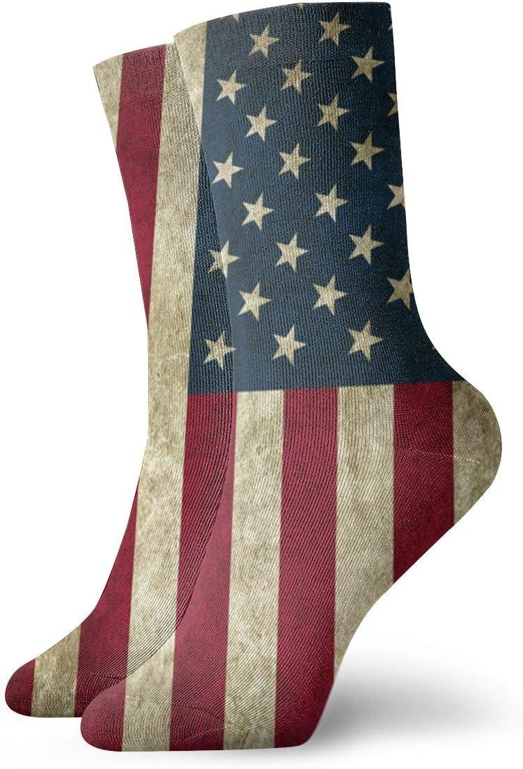Ruin Comodi e Antiscivolo Poliestere Calzini Corti con Bandiera Americana per Uomini e Donne Bianco Taglia Unica