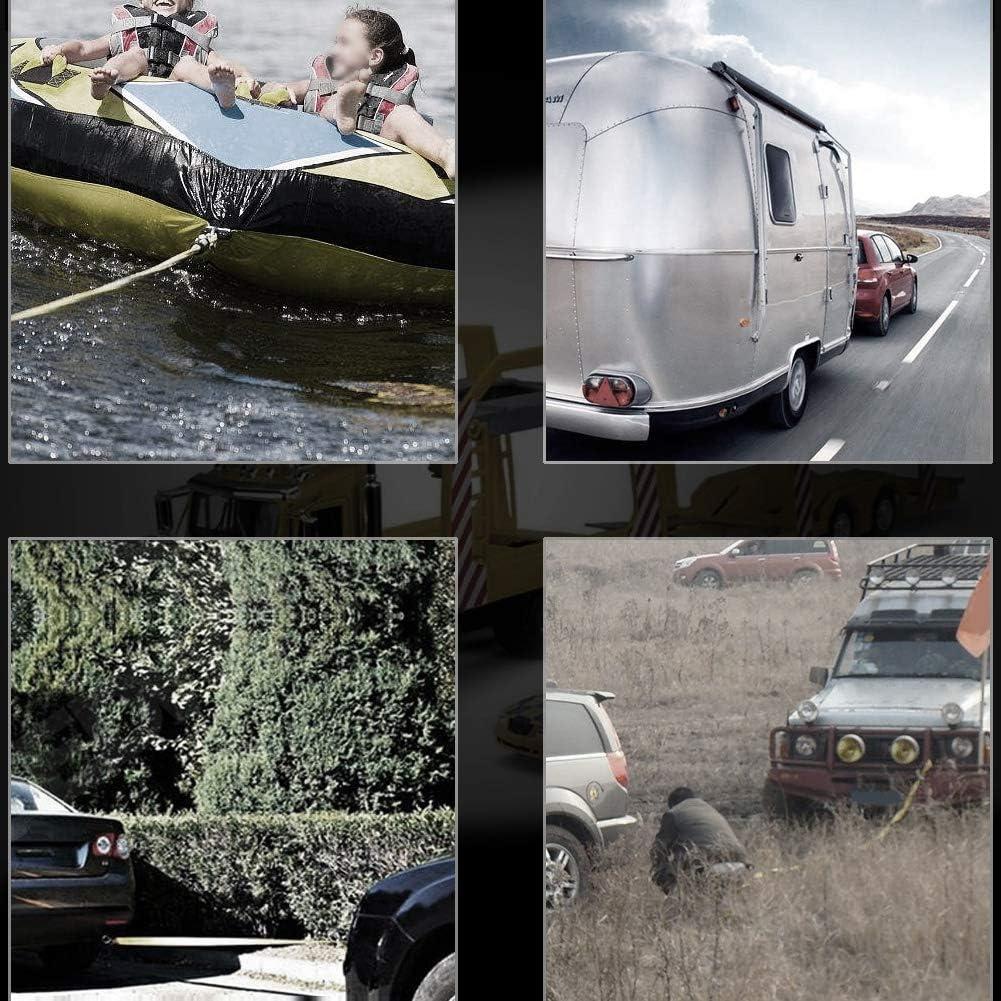Abschleppgurt 4 Meter Last 5 Tonnen Autoanh/änger Abschleppseilgurt Abschleppkabel mit Haken Einsatzfahrzeug