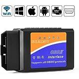 OBD2 Wifi, Bambud Diagnóstico OBD2, Adaptador Wifi OBD2 ios, OBDII, OBD2 Escáner Wifi USB, Igual que ELM327 Wifi, Soporte Todos Protocolos OBD2, Compatible con iOS, Android, Symbian, Windows (Wifi)