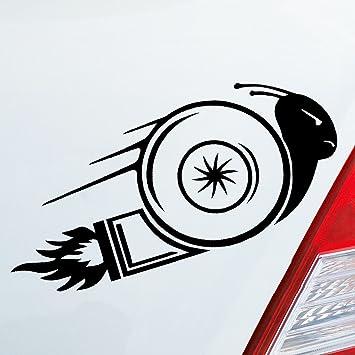 Auto Adhesivo en tu deseos Color Turbo schn esquina Caracol caracol de carreras Race 15 x 6,5 cm Auto decorativo para pantalla: Amazon.es: Coche y moto