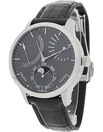 32aca20ce03 Maurice Lacroix Masterpiece Grey Dial Leather Strap Men s Watch  MP6528SS001330