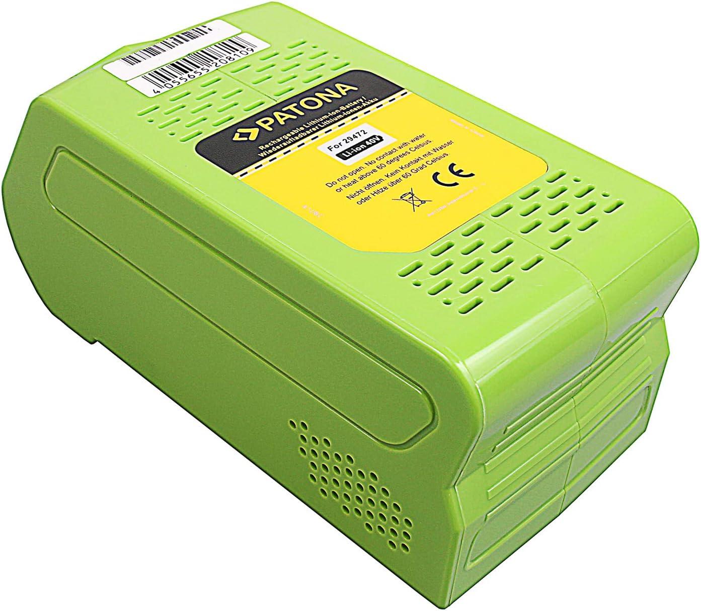 Premium AKKU 40V 4000mAh Li-Ion ersetzt Greenworks G-MAX 29472 29282 2601102