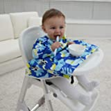 Veronica Baby Weaning Bib Feeding Highchair Cover Bibs Baby Led Weaning Ideal for BLW Toddler Baby-Led Weaning Extra Long