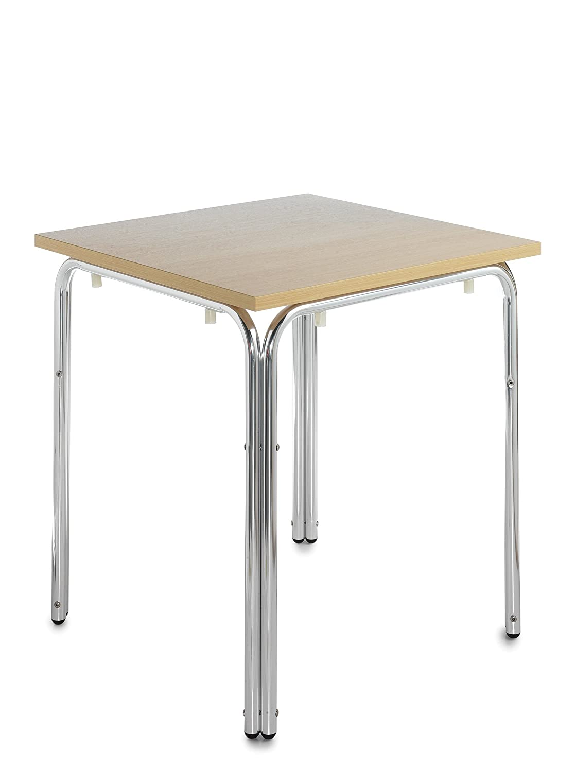 DAMS Nantas Aluminium Stacking Square Table, Wood, Beech, 70 x 70 cm SOF300T1-C