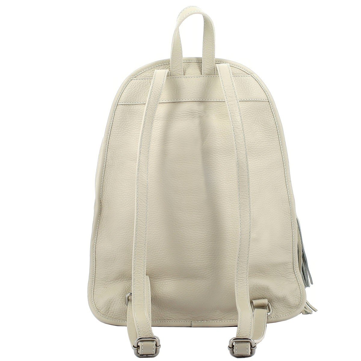 Dream Leather Bags Made in Italy Genuine Leather Genuine Leather Woman Backpack Color Beige