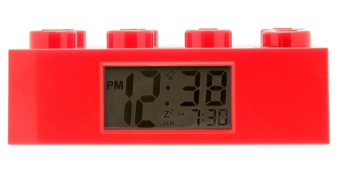 Lego Réveil Lumineux Brique Rouge Pour Enfant 9002168 Rouge