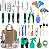 82 Pcs Garden Tools Set, Extra Succulent Tools Set, Heavy Duty Gardening Tools Aluminum with Soft Rubberized Non-Slip Handle