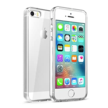 Mincome Funda iPhone 5S/5/SE Funda Carcasa iPhone 5S/5/SE Bumper Case Cristal Claro Gel TPU y Anti-Arañazos Funda Protectora para iPhone 5S/5/SE ...
