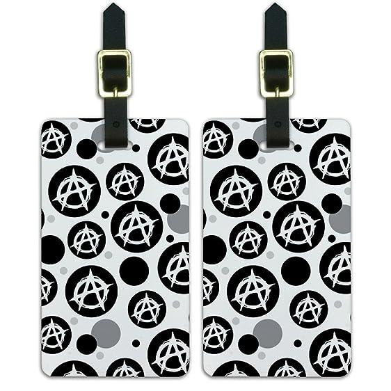 Amazon Luggage Suitcase Carry On Id Tags Set Of 2 Symbols