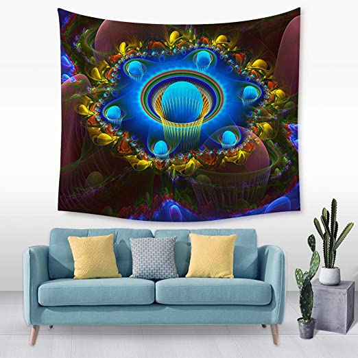 jtxqe Tapiz de patrón de Flores Tridimensional Tela para ...