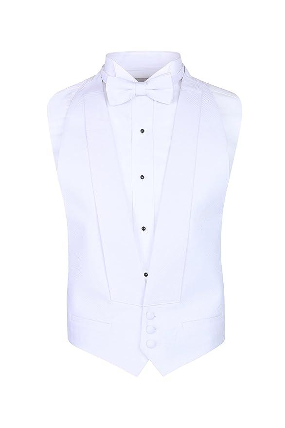 White Pique Vest & Bow Tie at Amazon Mens Clothing store: