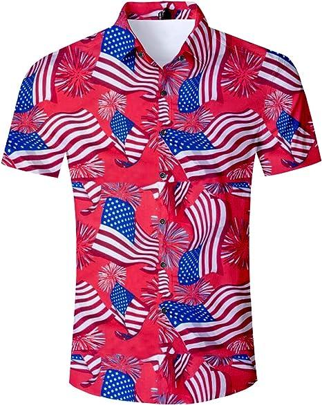 Geometric Skulls Mens Button Down Short Sleeve Shirt